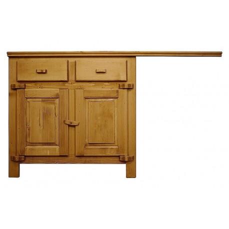 cuisine chamonix bas 2 portes 2 faux tiroirs plateau de 150 cm