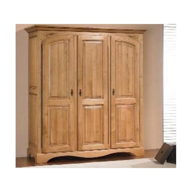 armoire ardeche chene massif 3 portes