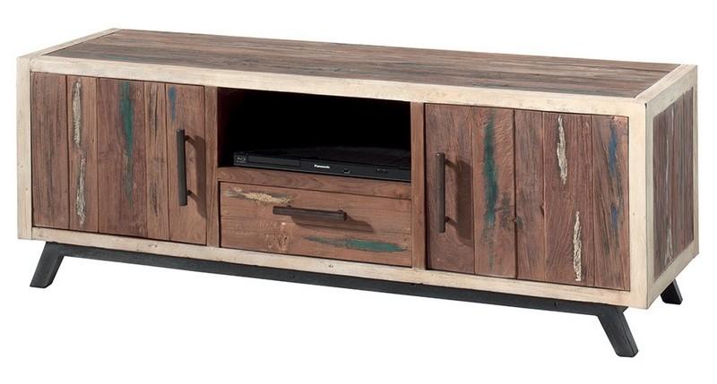 meuble tv en bois de bateau recycle sunboat casita