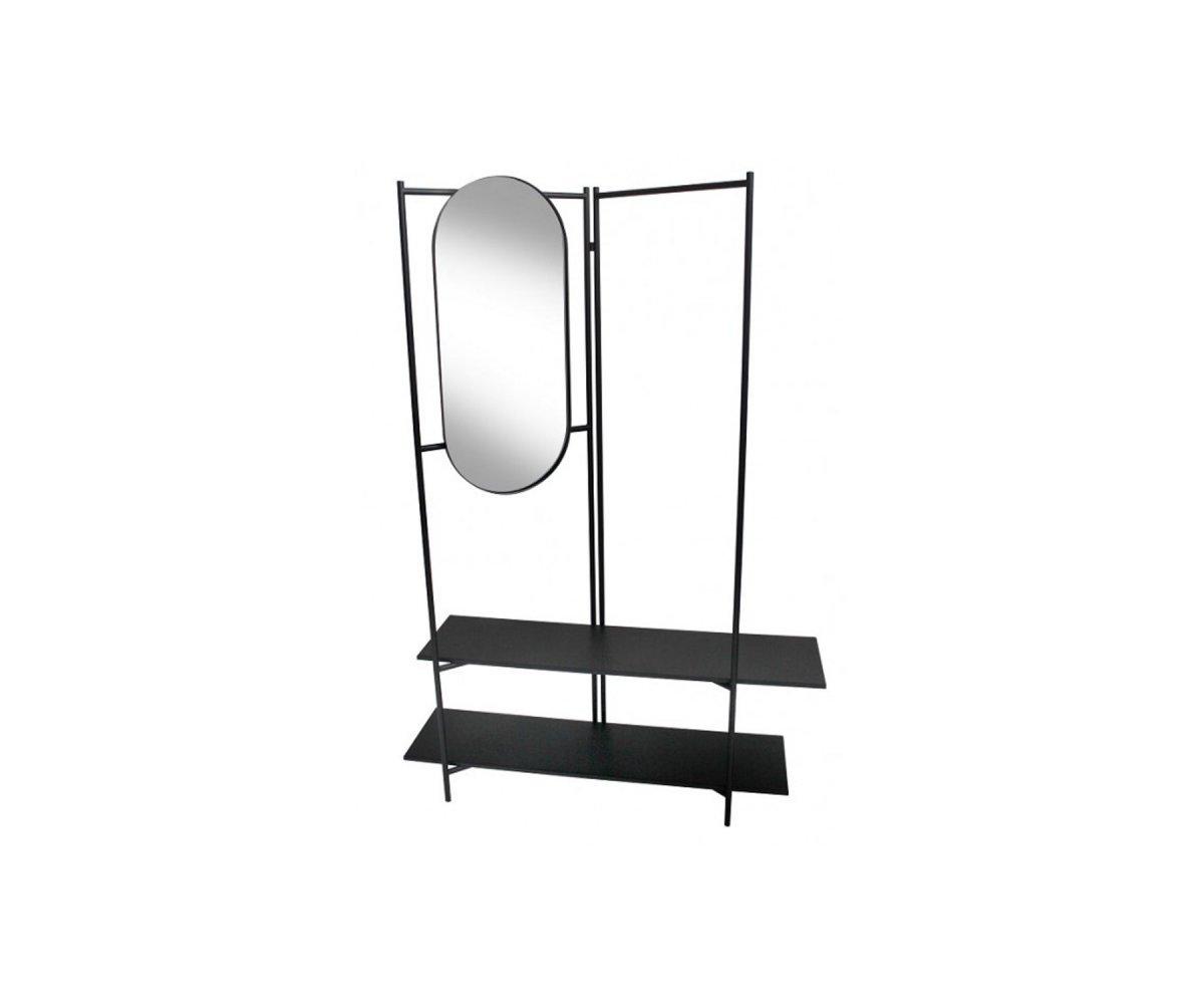vestiaire d entree design metal avec miroir dana red cartel