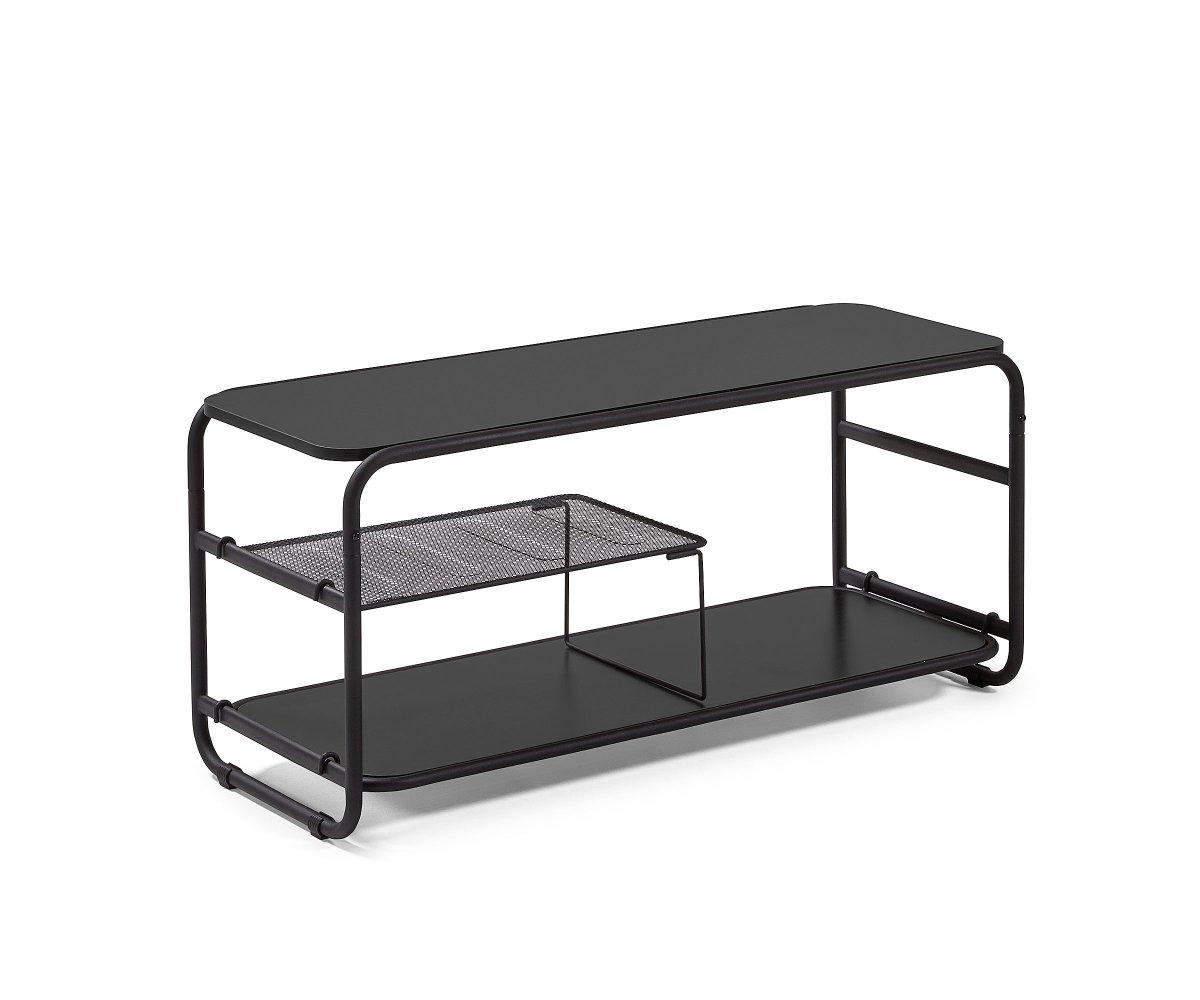 petit meuble tv metallique 100cm riskeo