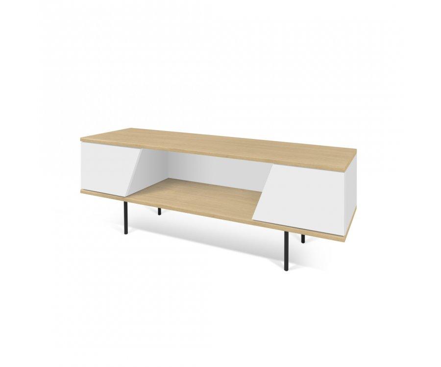meuble tv moderne en bois avec niche bizo marque temahome