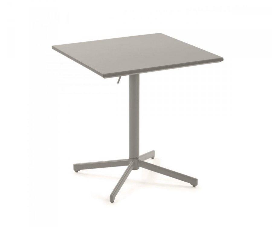petite table d exterieure carree en metal gris mayala basique au top