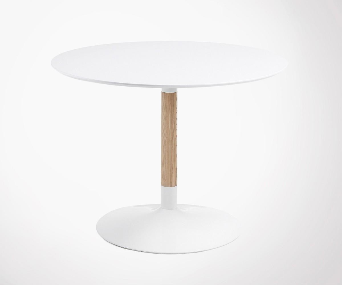 table 110cm bois ronde design moderne tac