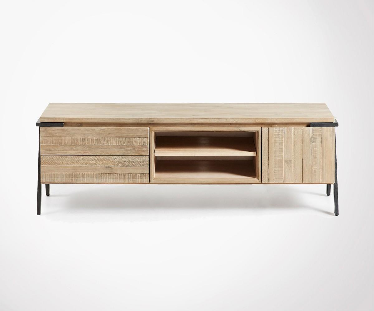 meuble tv 165cm metal bois siesta
