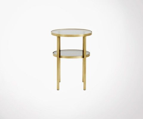 petite table d appoint ovale laiton verre dokota nordal