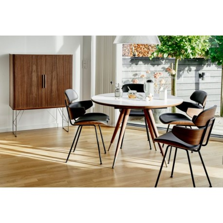 table de repas ronde extensible edge 110 cm naver