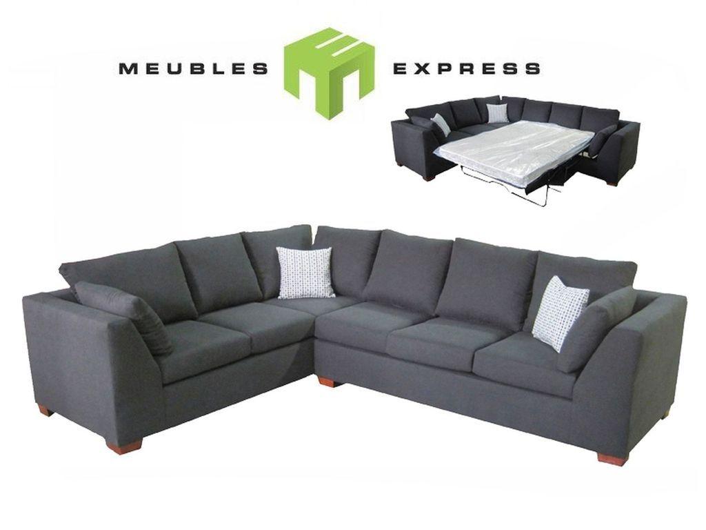 sofa sectionnel 6 places avec lit double possibilite de faire sur mesure