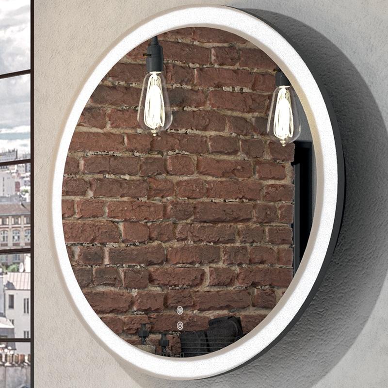 Miroir Rond Retro Eclaire Leds Instinct Meubles De Salle De Bains