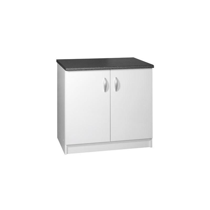 meuble cuisine bas 2 portes 90cm oxane