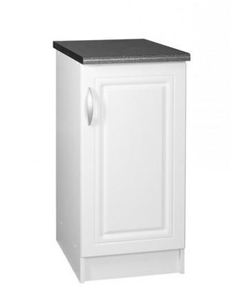 meuble cuisine bas 1 porte 60cm blanc avec moulures dina