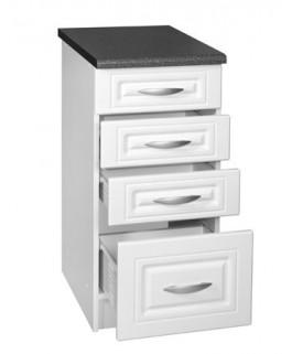 meuble cuisine bas 4 tiroirs 40cm dina