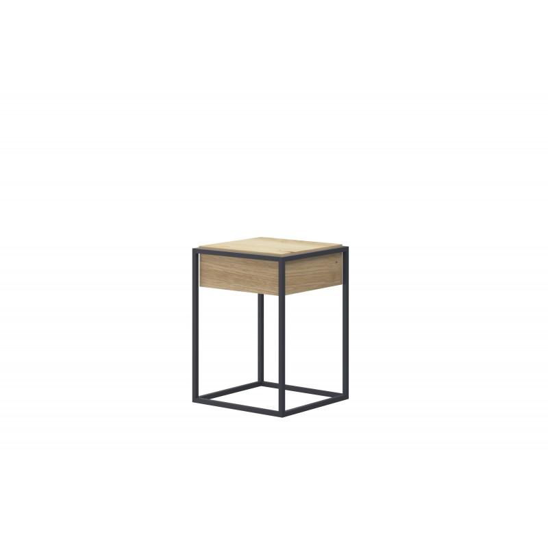 table basse industrielle carree enjoy 40 cm
