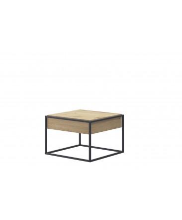 table basse industrielle carree enjoy 60 cm