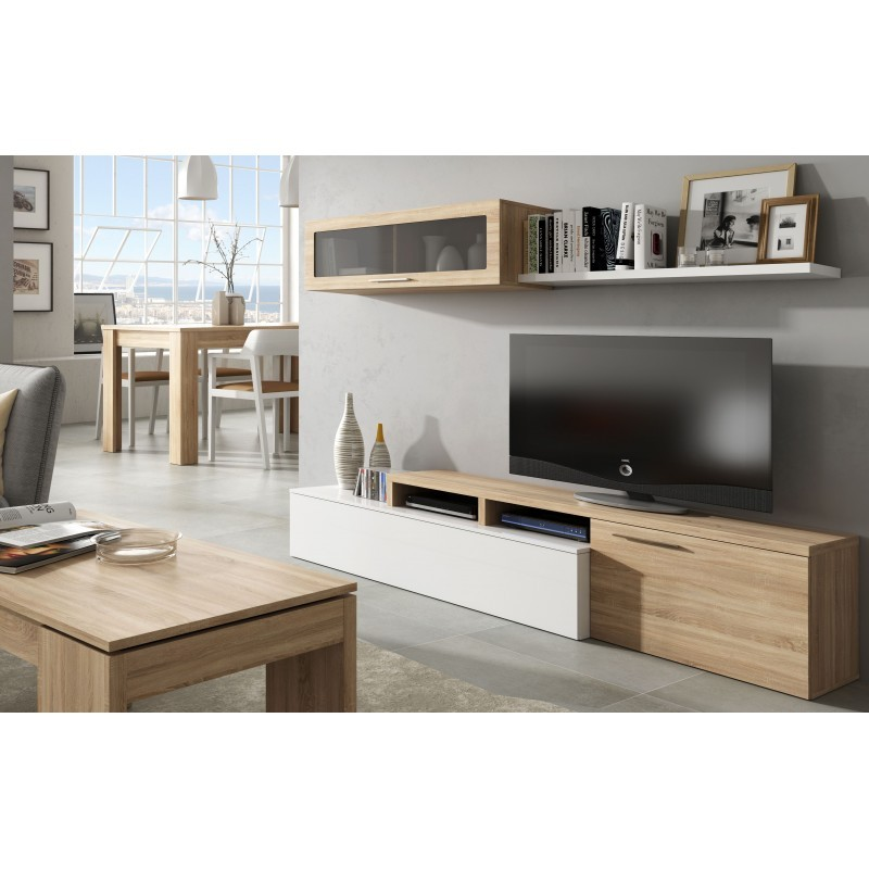 nexia ensemble meuble de tele simple ou angle