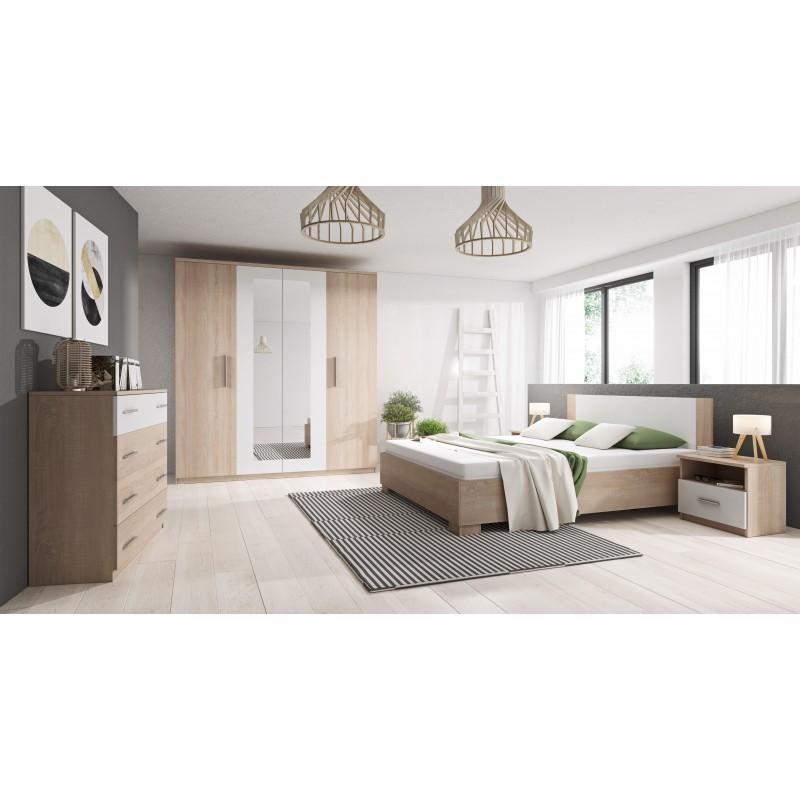 marco chambre complete bois et blanc