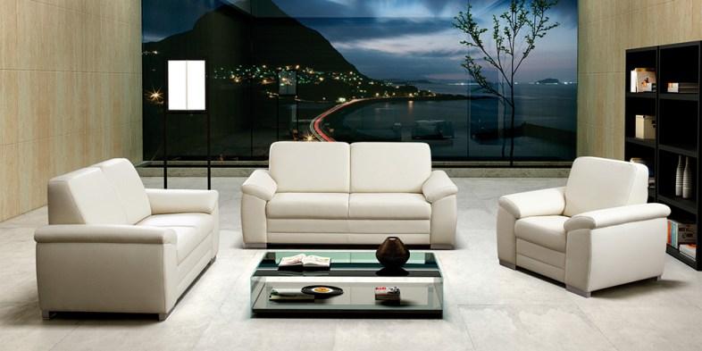Canapé droit blanc