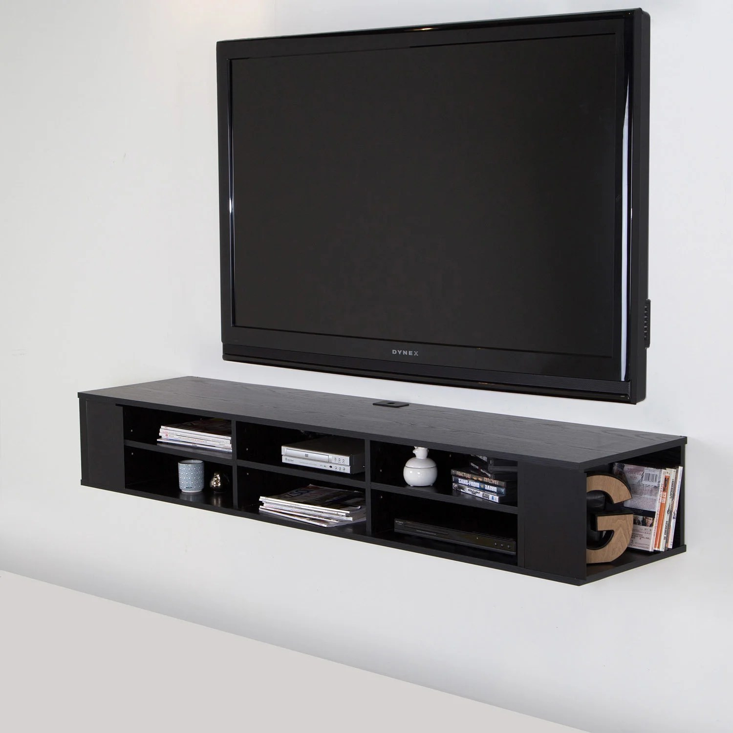 66 Wide Wall Mounted Media Console