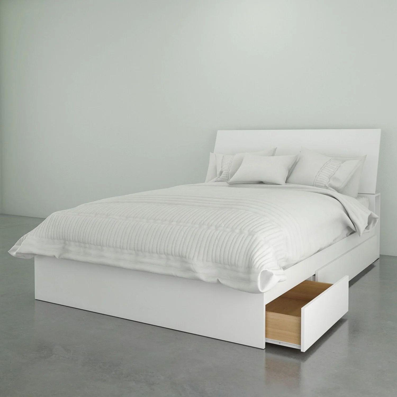 lit rangement 3 tiroirs tete de lit double