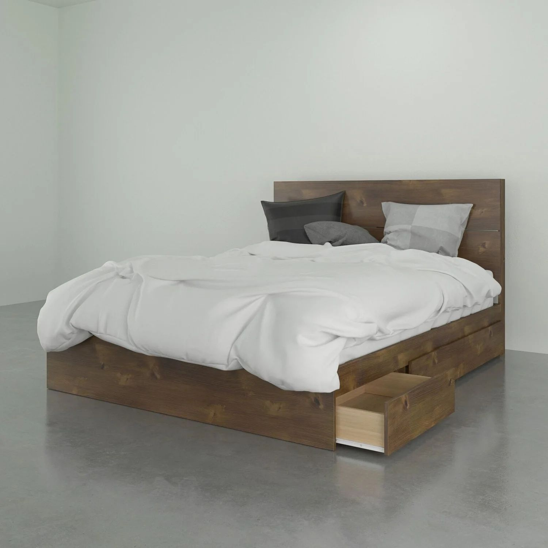 3 drawer storage bed headboard queen