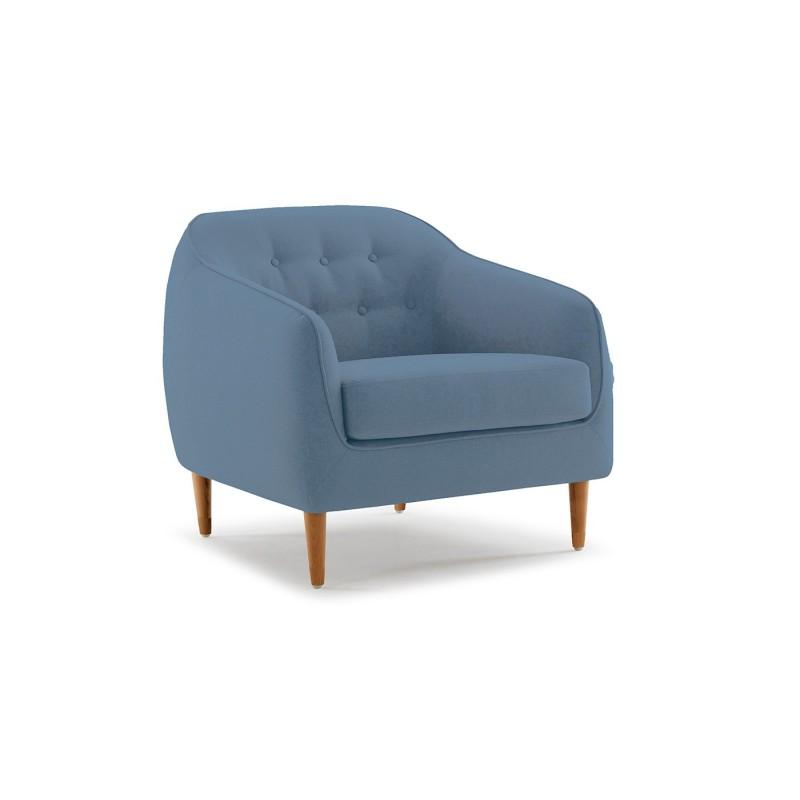 fauteuil en tissu bleu confortable erika