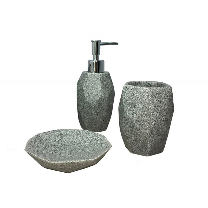 set 3 accessoires salle de bain kesia