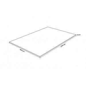 plateau rectangulaire 120x60 en verre trempe transparent