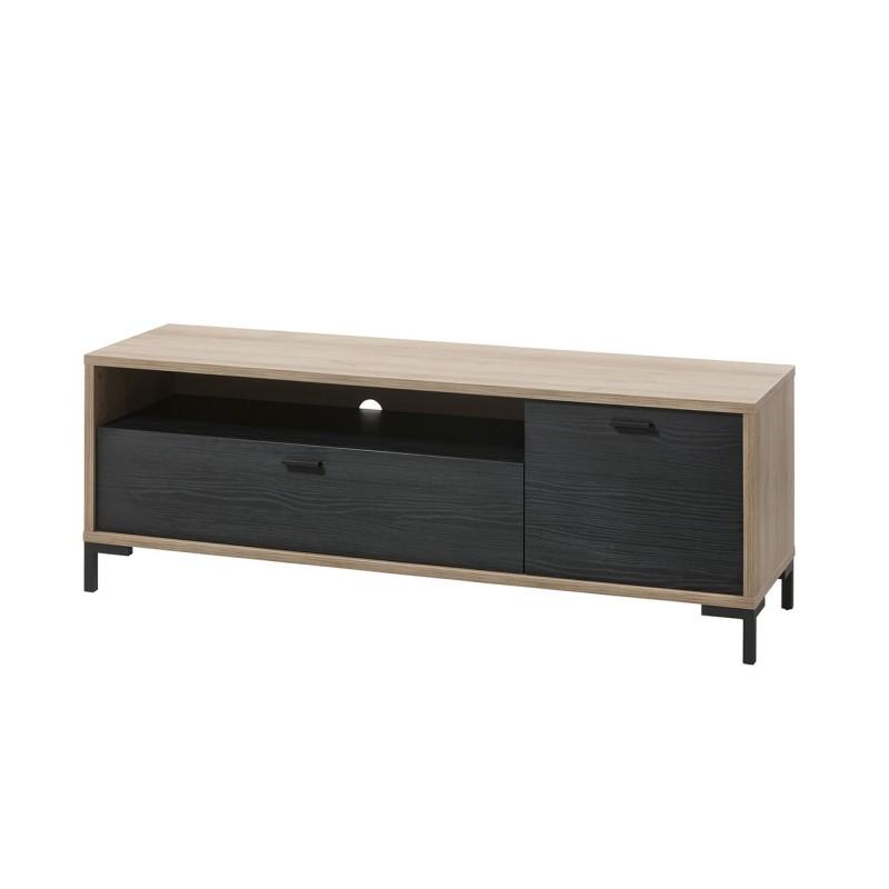 meuble tv noir et beige ariana