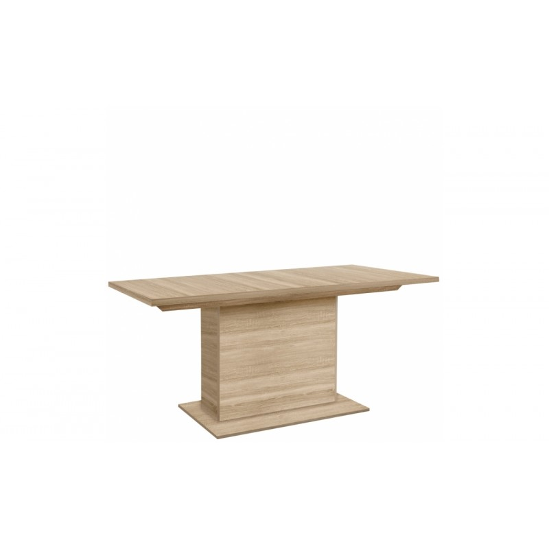 table rectangulaire extensible 160 200 cm decor bois chene clair