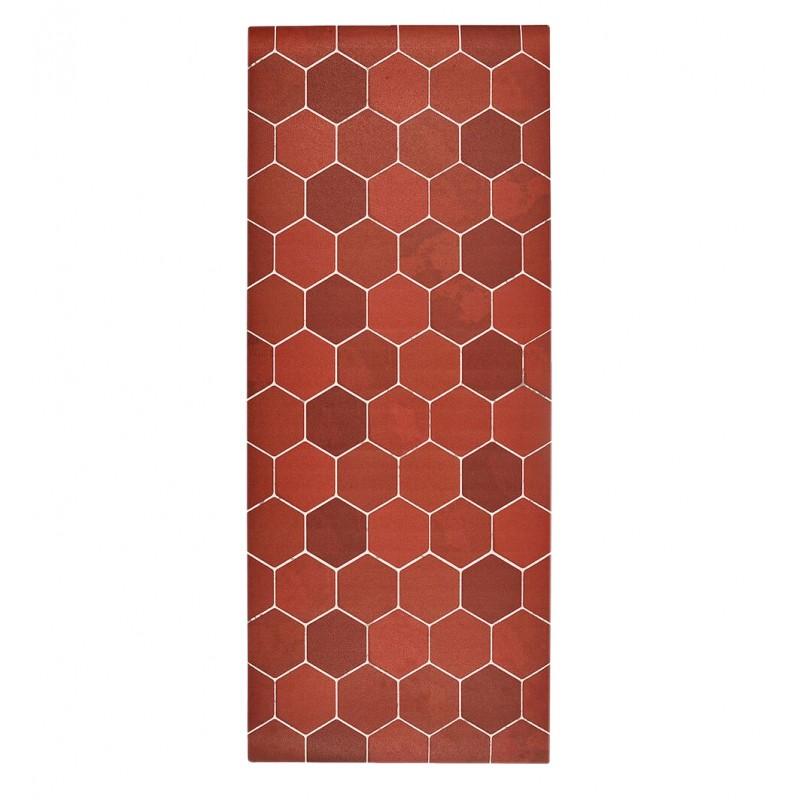 tapis de cuisine en vinyle imitation tomettes 50 x 120 cm apt