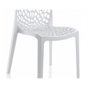 lot 4 chaises ajourees empilables blanches gruyer