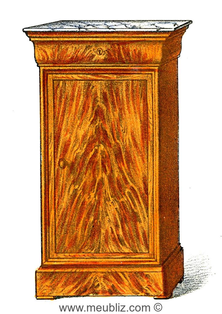 Table De Chevet Style Louis Philippe