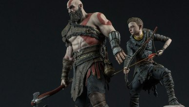 God of War: Kratos e Atreus estatueta