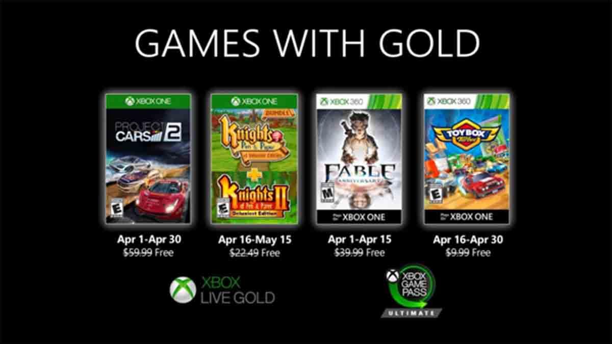 """Jogos de Abril Xbox """"Games With Gold"""""""