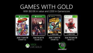 """Jogos gratuitos do """"Games With Gold"""" do mês de Junho"""
