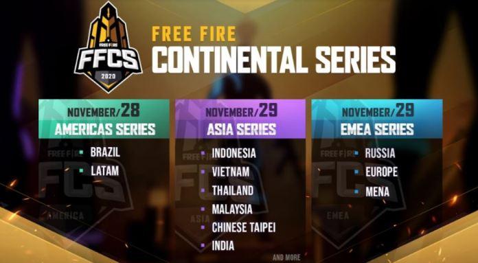 Garena anuncia Free Fire Continental Series (FFCS) — Foto: Divulgação / Garena