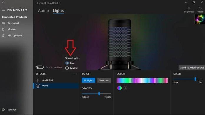 Microfone HyperX QuadCast S chega com iluminação RGB e efeitos customizáveis
