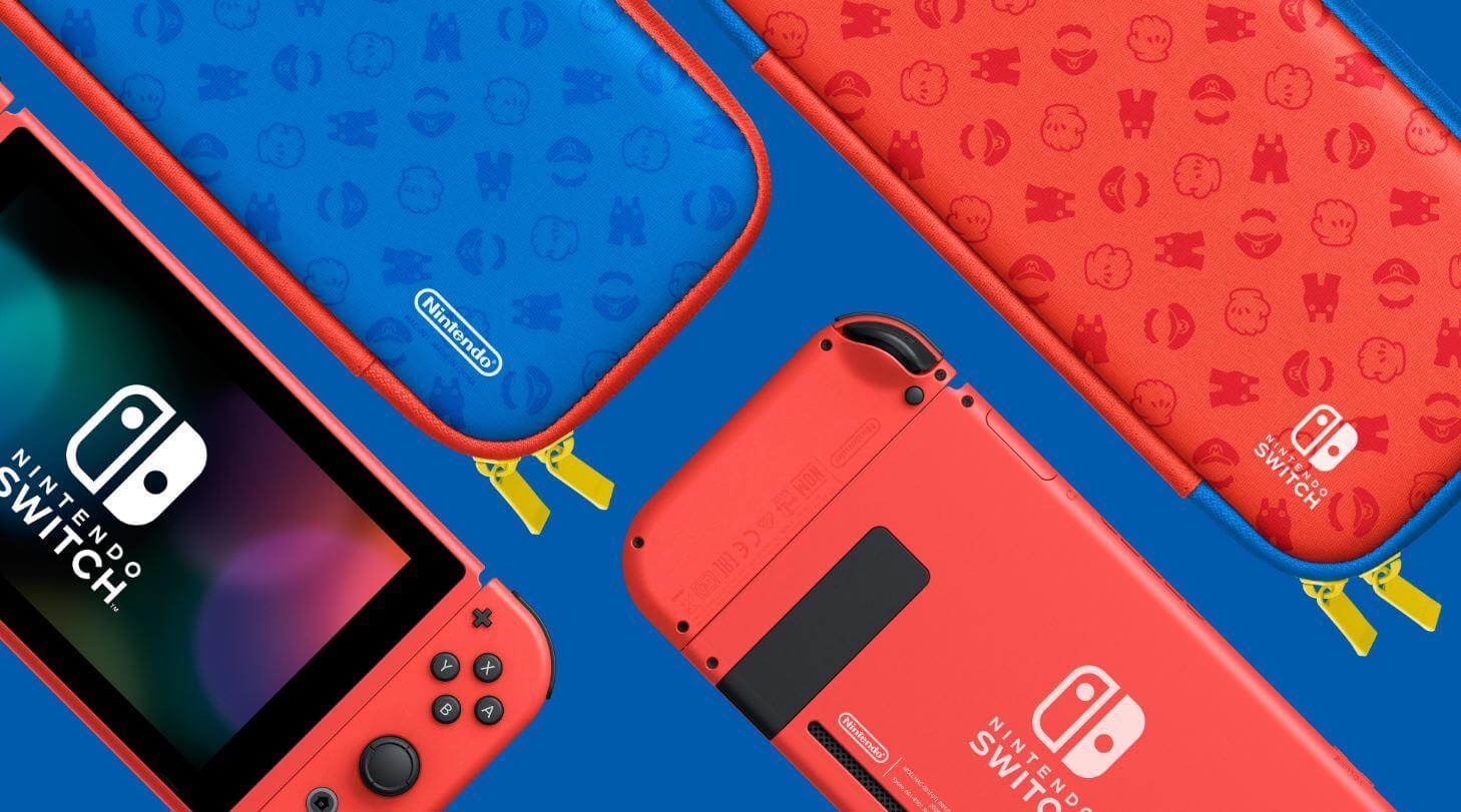 Nintendo anuncisa versão do Switch inspirada no visual do Mario