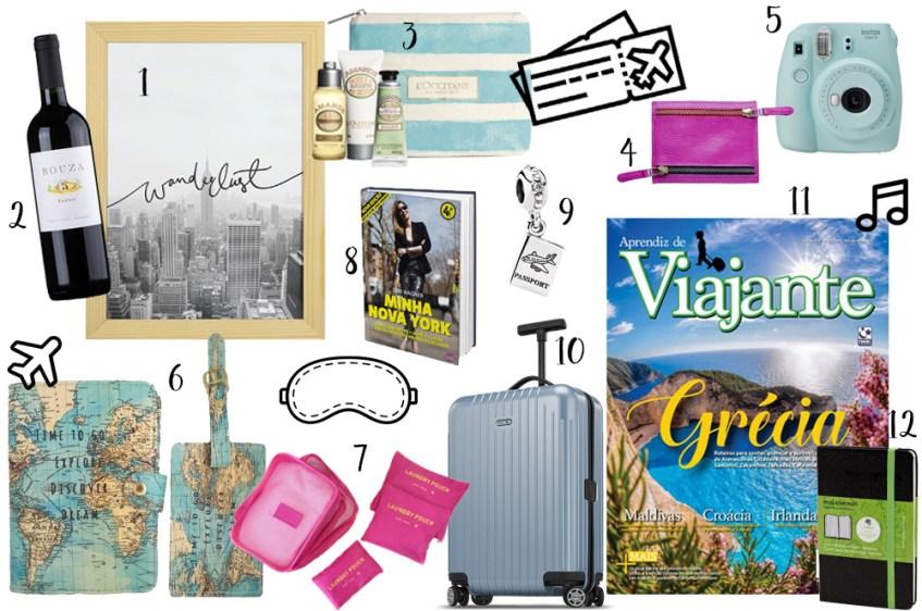 Sugestões de presentes pra quem ama viajar