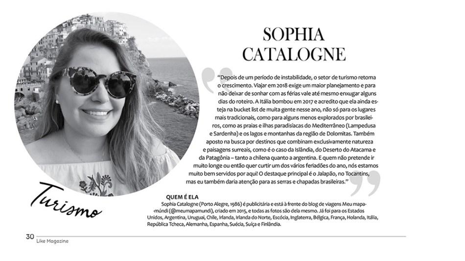 Sophia Catalogne   Revista Like Magazine