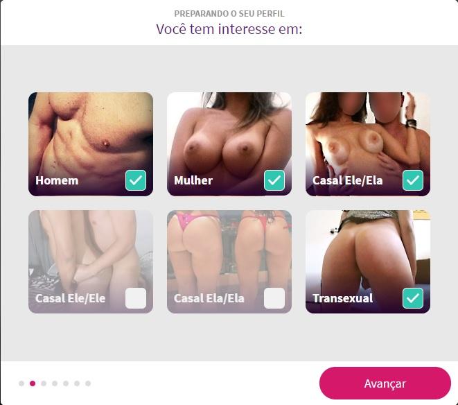 Cadastro Sexlog