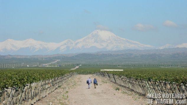 Vista da vinícola Pulenta - Mendoza, Argentina