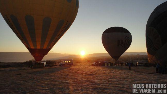 Nascer do sol na Capadócia - Turquia