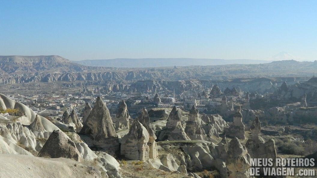 Vista panorâmica de Goreme - Capadócia, Turquia