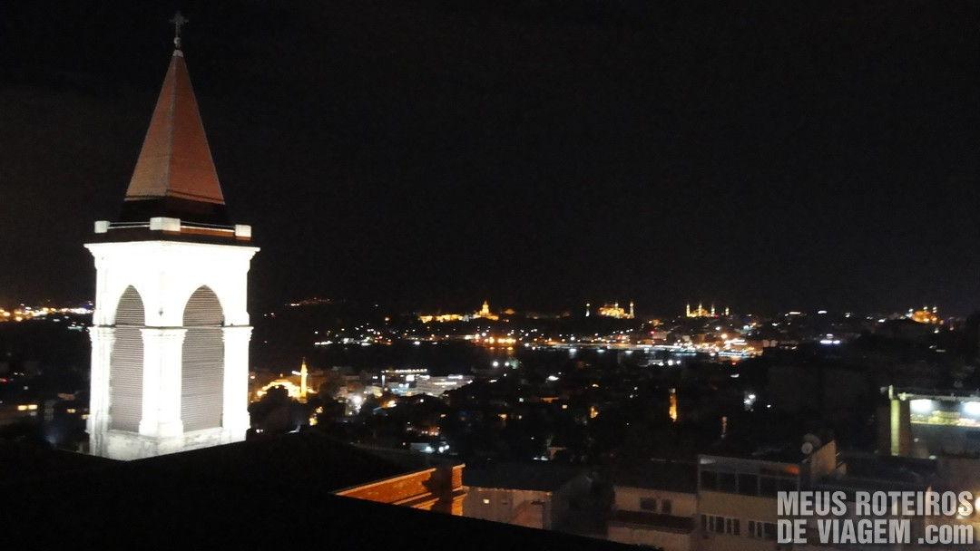 Vista do restaurante Istanbul 360 - Istambul, Turquia