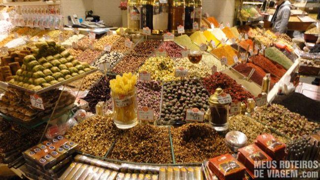 Loja do Bazar de Especiarias - Istambul, Turquia