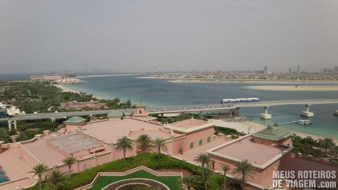 Vista do quarto do hotel Atlantis The Palm, Dubai