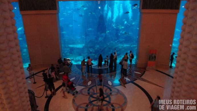 Aquário na recepção do hotel Atlantis The Palm, Dubai