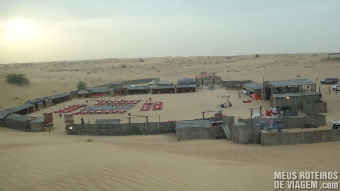 Acampamento de beduínos - Deserto de Dubai, Emirados Árabes
