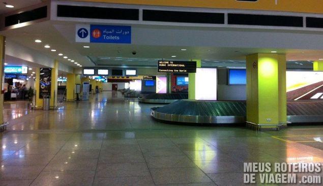Desembarque do terminal 1 - Aeroporto de Dubai